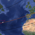map image of SOFIAs flight path
