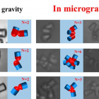image showing difference in gravity and in microgravity